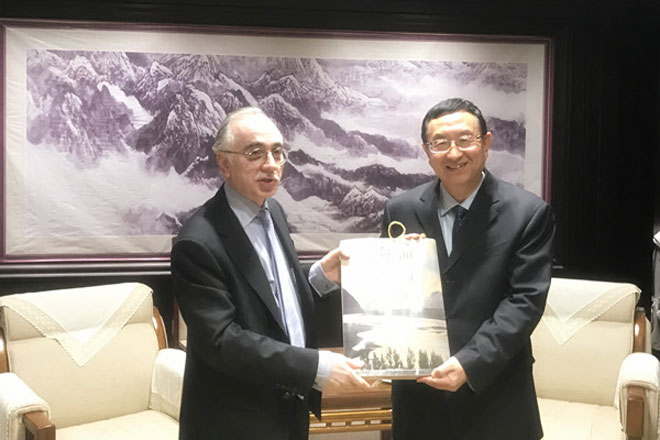 Chinese Minister of Culture Luo Shugang meets Ambassador Masood Khalid in Beijing